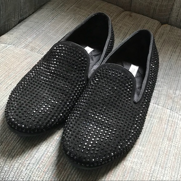 8f261b3cae9 Steve Madden slippers rhinestone caviarr mens 10.5